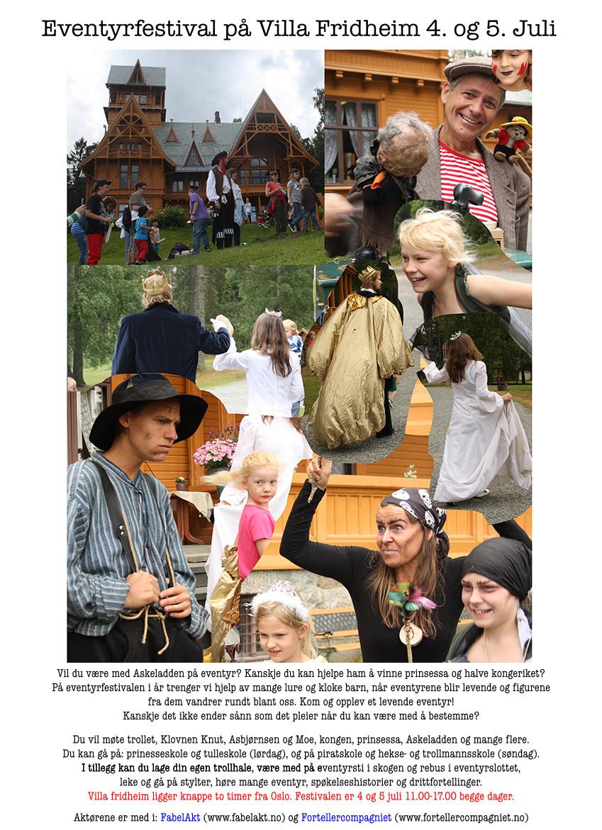 Eventyrfestival på Villa Fridheim 4  og 5  juli